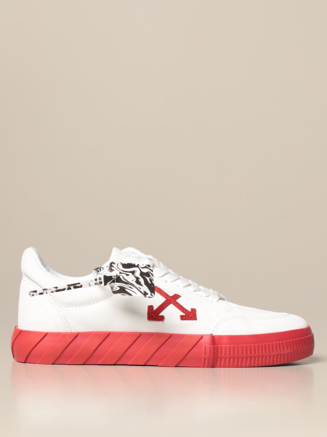 Off White sneakers in canvas and suede