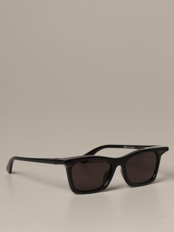 Occhiali Balenciaga: Occhiali da sole Balenciaga in acetato nero 1