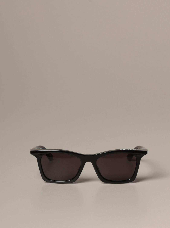 Occhiali Balenciaga: Occhiali da sole Balenciaga in acetato nero 2