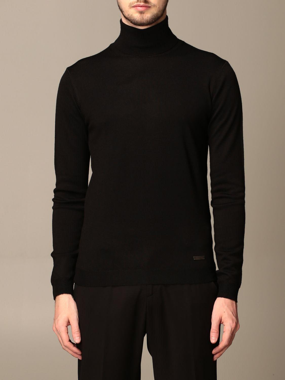 Sweater Alessandro Dell'acqua: Alessandro Dell'acqua turtleneck in wool blend blue 1
