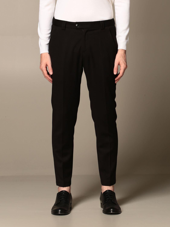 Pantalone Alessandro Dell'acqua: Pantalone Alessandro Dell'acqua con tasche america nero 1