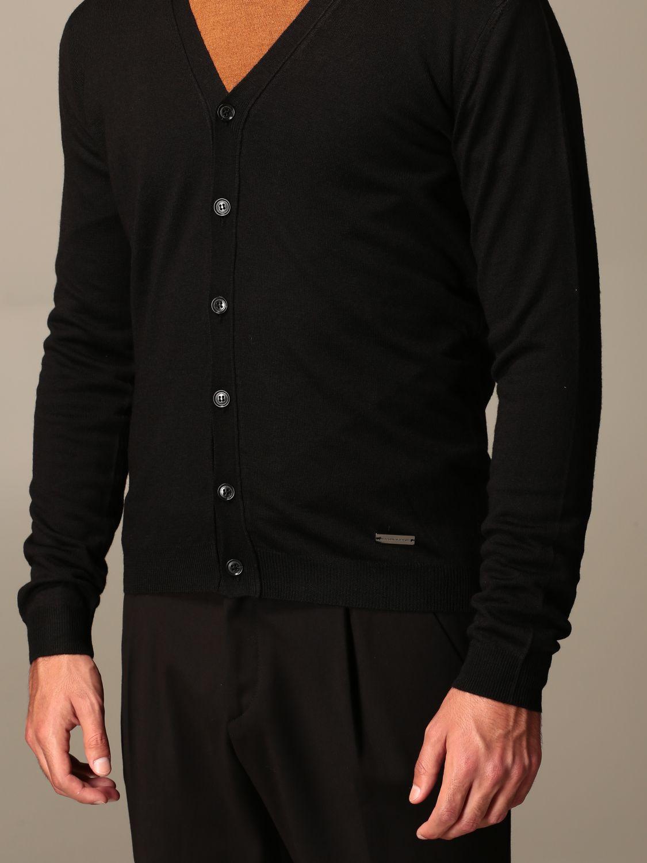 Cardigan Alessandro Dell'acqua: Pull homme Alessandro Dell'acqua noir 3