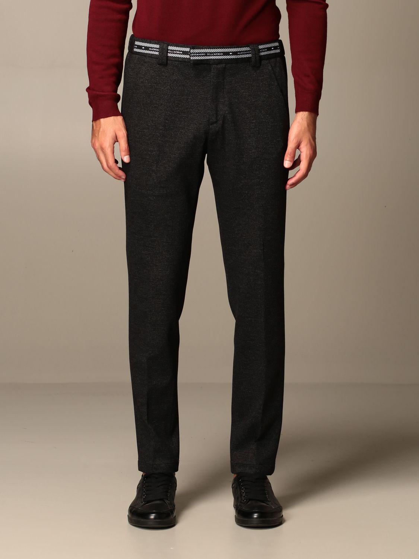 Pants Alessandro Dell'acqua: Alessandro Dell'acqua trousers with logo black 1
