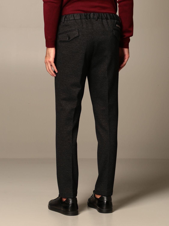 Pants Alessandro Dell'acqua: Alessandro Dell'acqua trousers with logo black 2