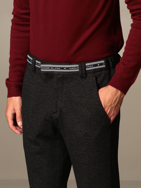 Pants Alessandro Dell'acqua: Alessandro Dell'acqua trousers with logo black 3