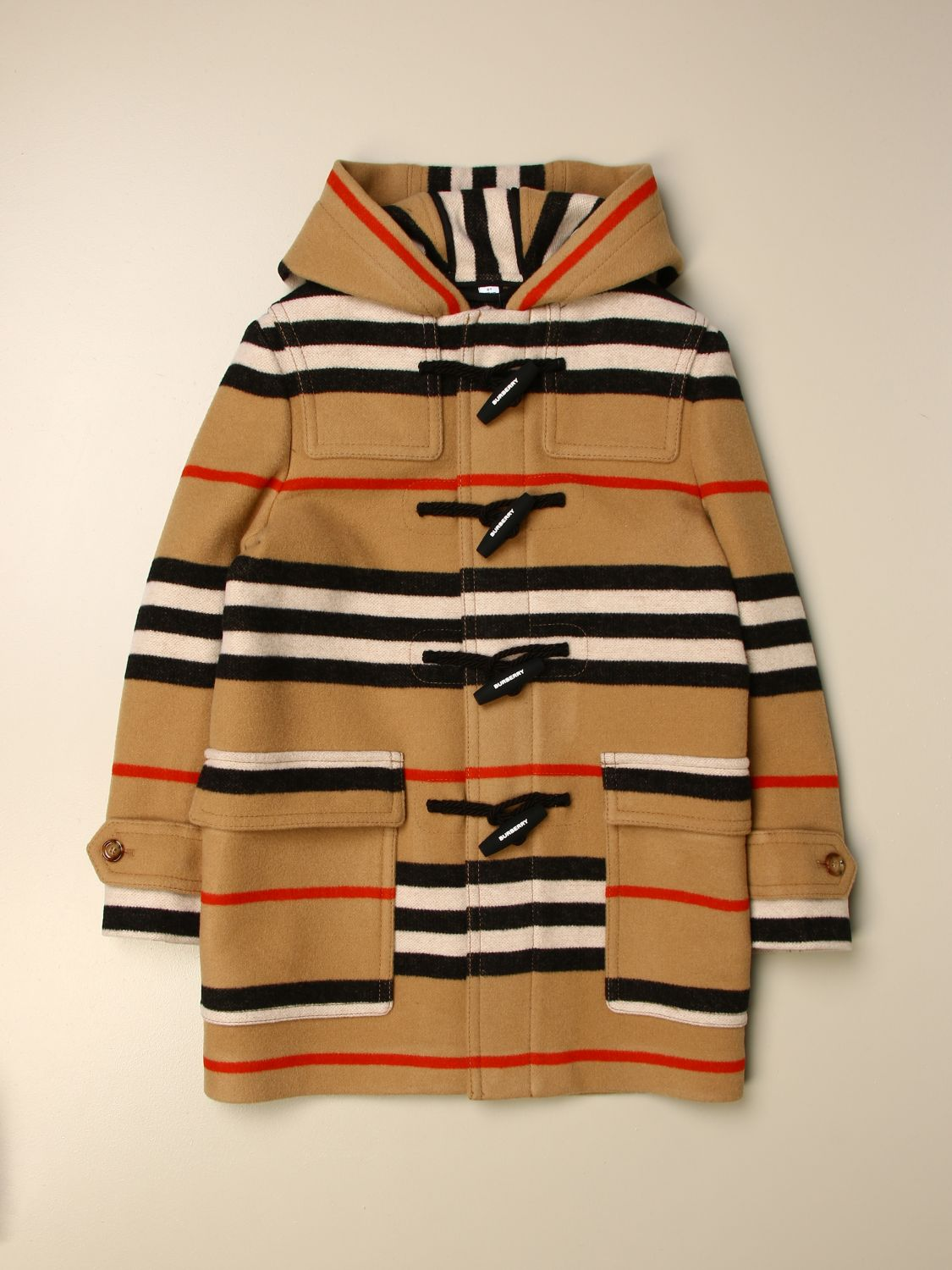 Coat Burberry: Blazer kids Burberry beige 1