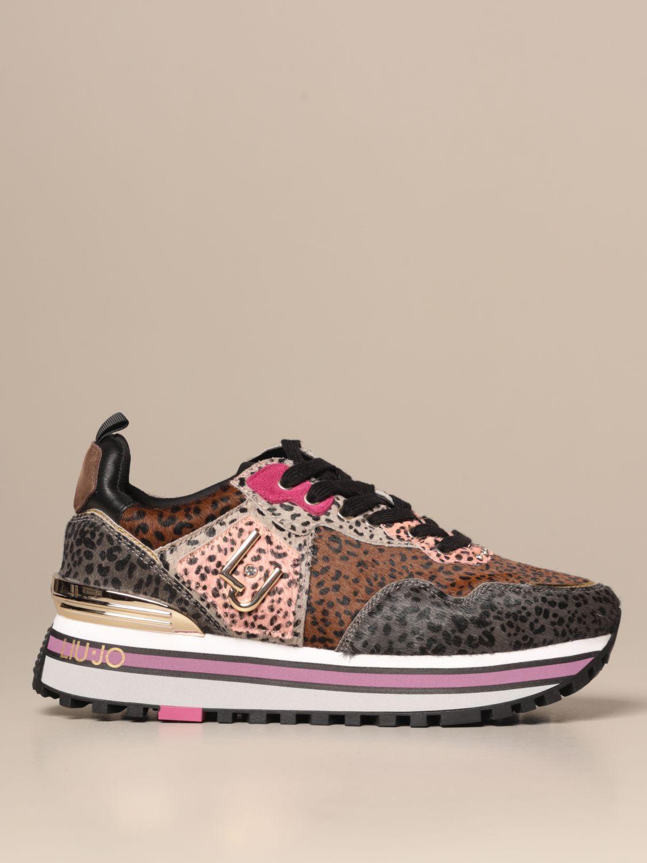 Culo Grasa aspecto  Liu Jo platform sneakers in multicolor pony skin | Sneakers Liu Jo Women  Pink | Sneakers Liu Jo BF0069PX072 Giglio EN
