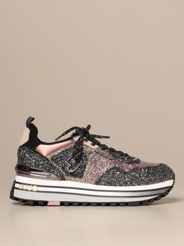 Atajos fregar giro  Liu Jo platform sneakers in glitter fabric | Sneakers Liu Jo Women  Multicolor | Sneakers Liu Jo BF0069TX007 Giglio EN