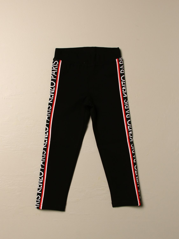 Pantalone Kenzo Junior: Pantalone Jogging Kenzo Junior con bande logate nero 1