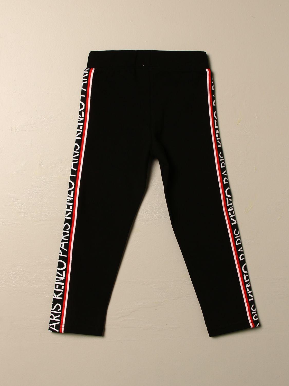 Pantalone Kenzo Junior: Pantalone Jogging Kenzo Junior con bande logate nero 2