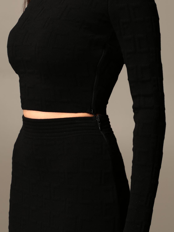 Zweiteiliger Anzug Elisabetta Franchi: Zweiteiliger anzug damen Elisabetta Franchi schwarz 4