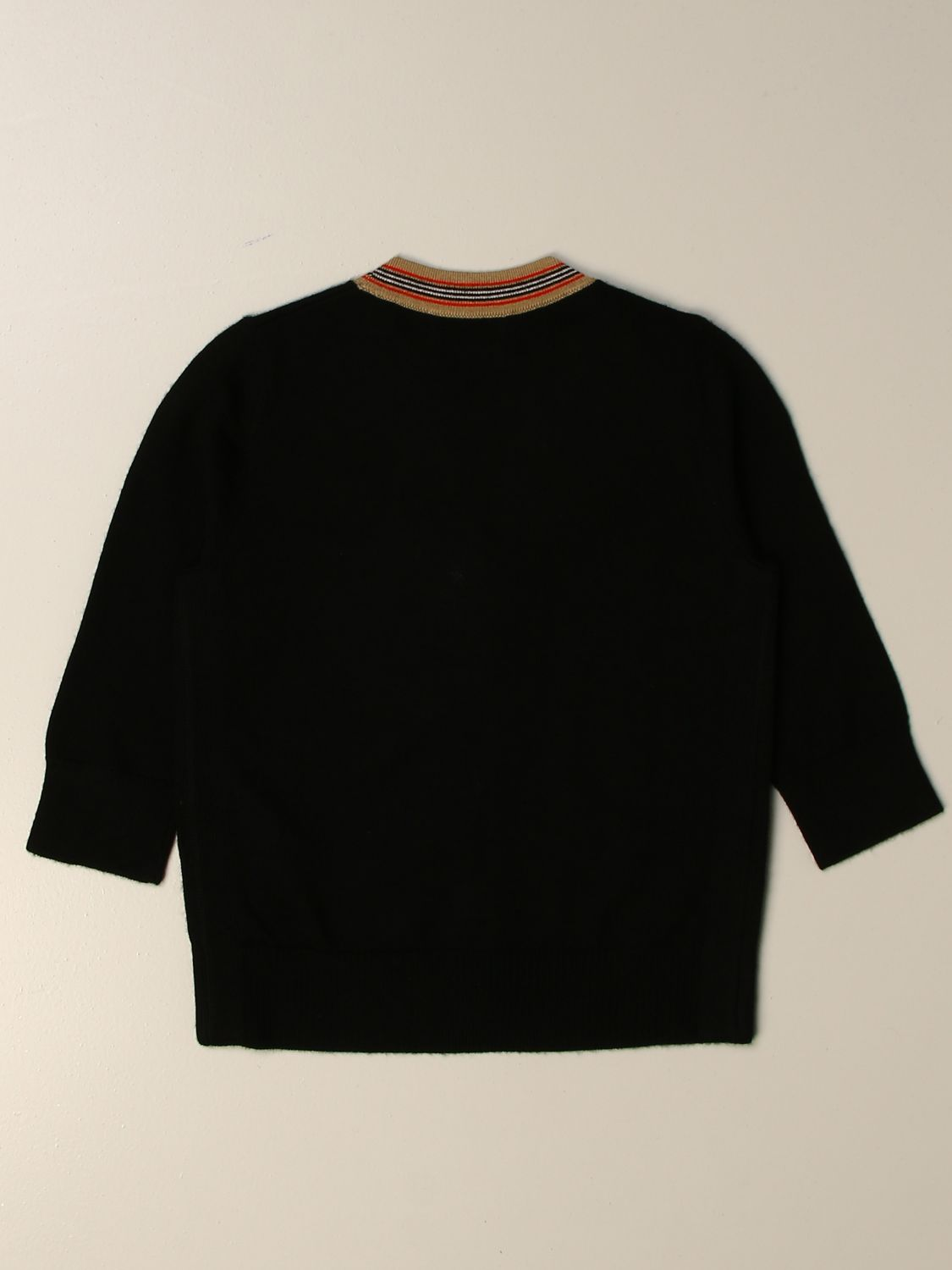 Sweater Burberry: Burberry cardigan with striped profiles black 2