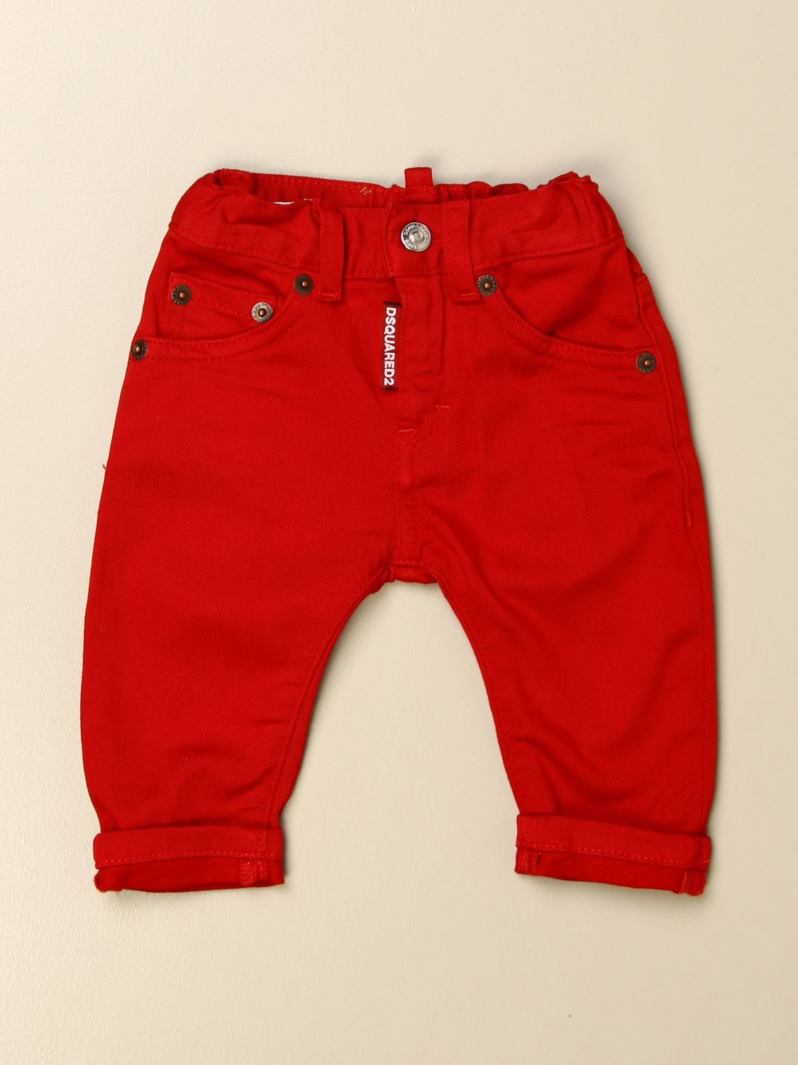 Trousers Dsquared2 Junior: Trousers kids Dsquared2 Junior red 1