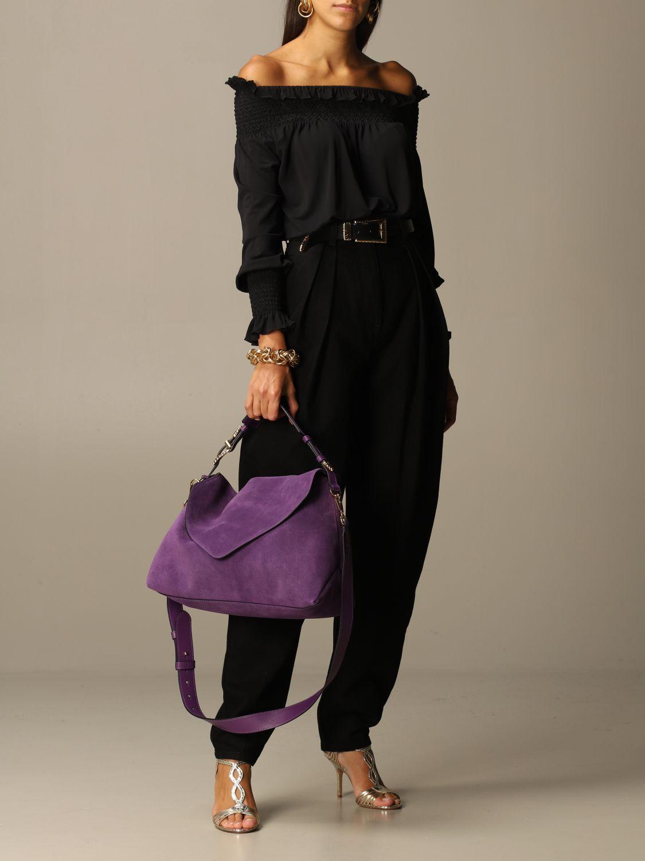 Bolso de hombro Alberta Ferretti: Bolso de hombro mujer Alberta Ferretti violeta 2