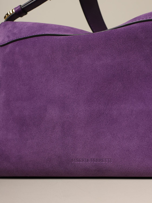 Bolso de hombro Alberta Ferretti: Bolso de hombro mujer Alberta Ferretti violeta 4