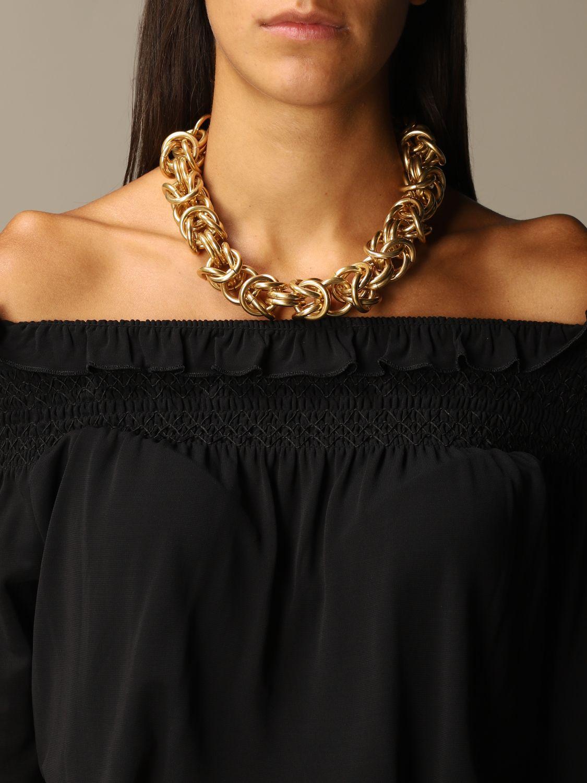 Gioielli Alberta Ferretti: Collana Alberta Ferretti con maglie metalliche oro 1