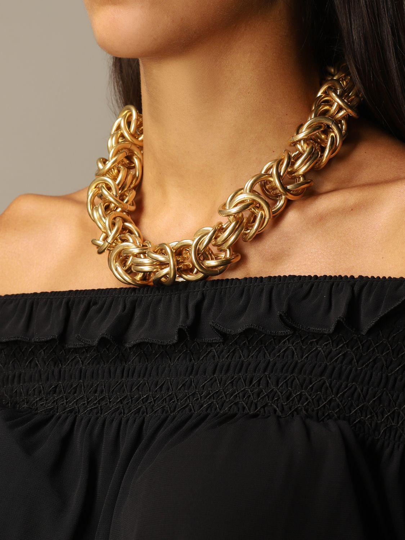 Gioielli Alberta Ferretti: Collana Alberta Ferretti con maglie metalliche oro 3
