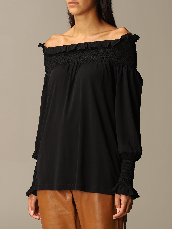 Блузка Alberta Ferretti: Блузка Женское Alberta Ferretti черный 4