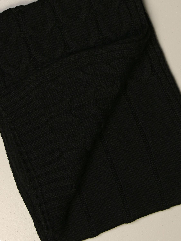 Sciarpa bimba Moncler: Sciarpa Moncler a trecce con logo nero 3