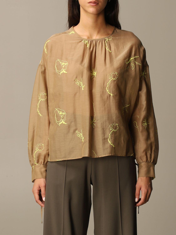 Shirt Alysi: Top women Alysi camel 1