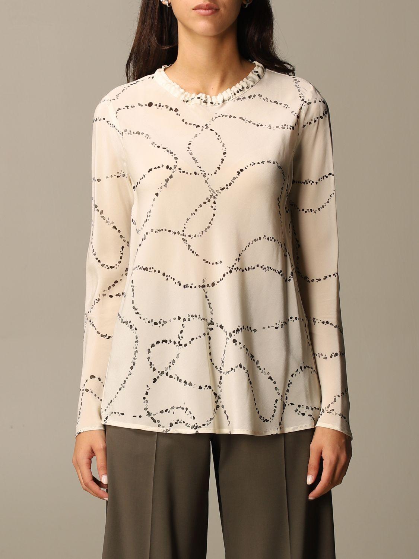 Shirt Alysi: Top women Alysi yellow cream 1