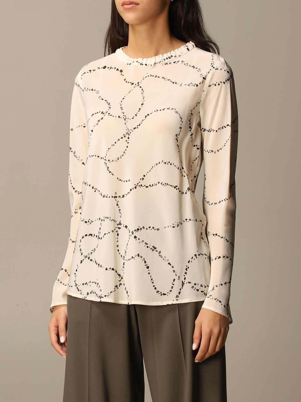 Shirt Alysi: Top women Alysi yellow cream 4