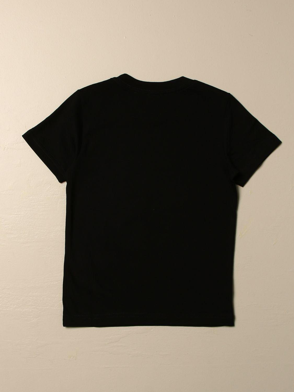 Maglia Diesel: T-shirt Diesel a girocollo in cotone con logo laminato nero 2