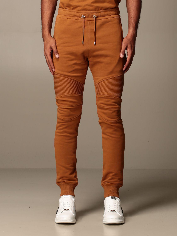 Pantalone Balmain: Pantalone jogging Balmain in cotone cammello 1