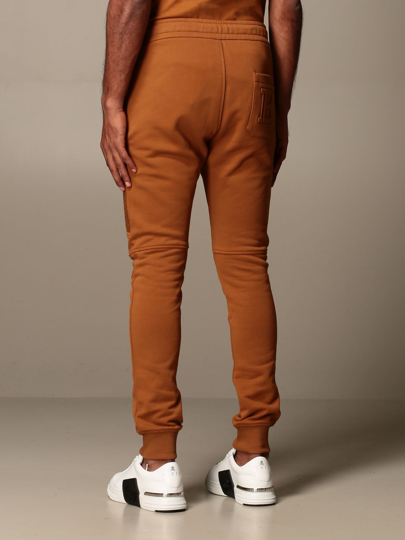 Pantalone Balmain: Pantalone jogging Balmain in cotone cammello 3