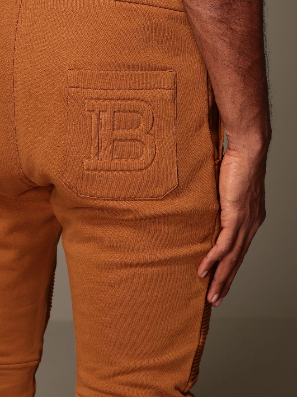 Pantalone Balmain: Pantalone jogging Balmain in cotone cammello 5