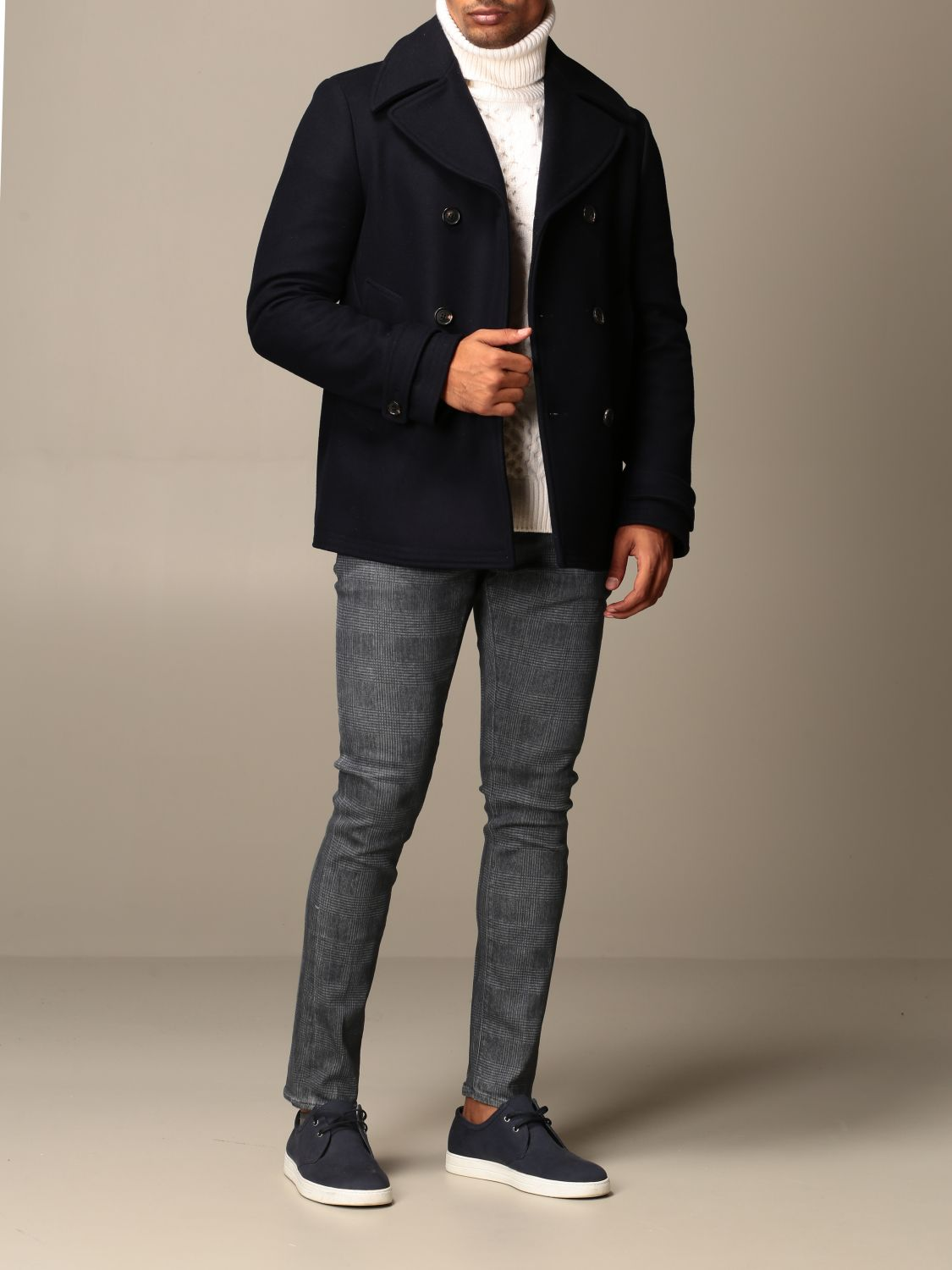 Coat Dondup: Coat men Dondup blue 2
