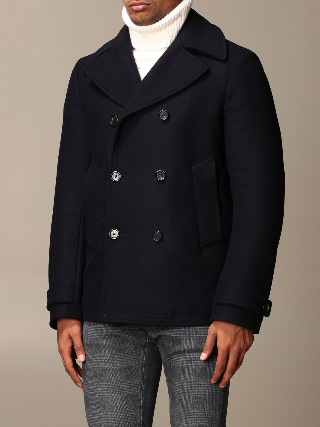 Coat Dondup: Coat men Dondup blue 4