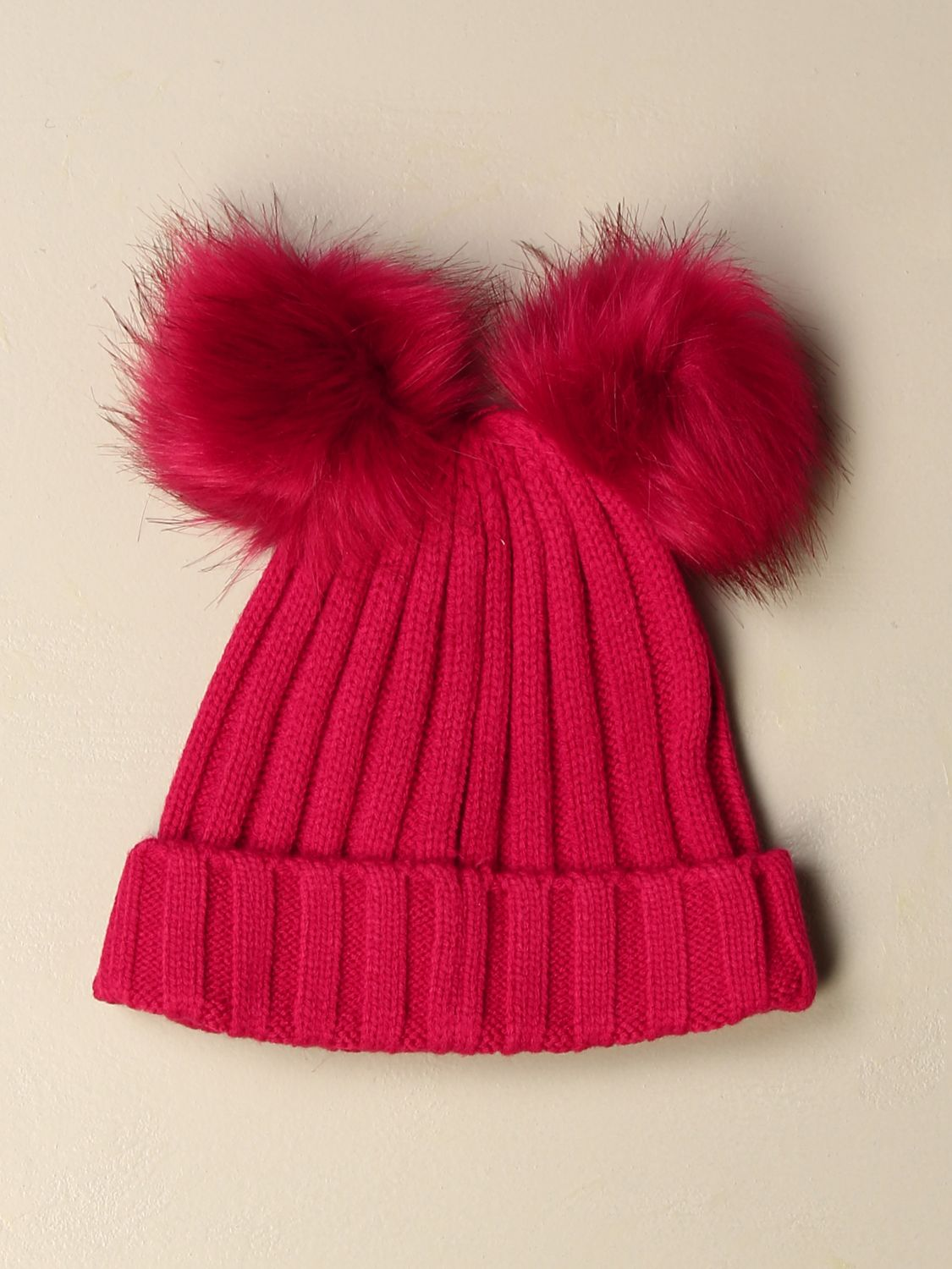 Hat girl Liu Jo: Liu Jo hat with maxi pompom fuchsia 2