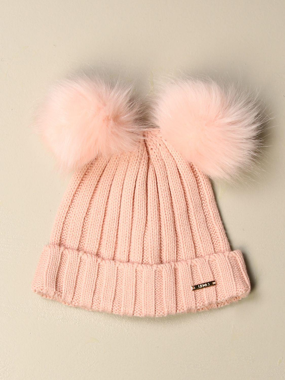 Hat girl Liu Jo: Liu Jo hat with maxi pompom pink 1