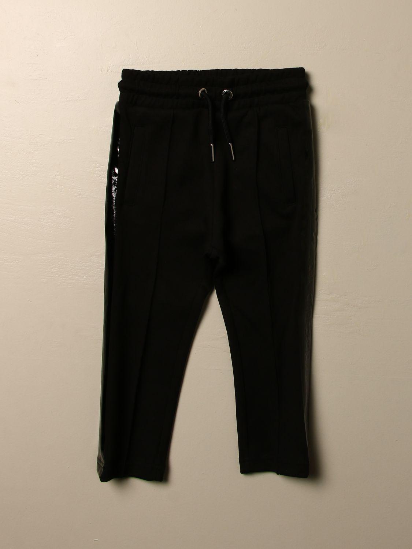 Pantalone Diesel: Pantalone jogging Diesel in cotone con logo nero 1