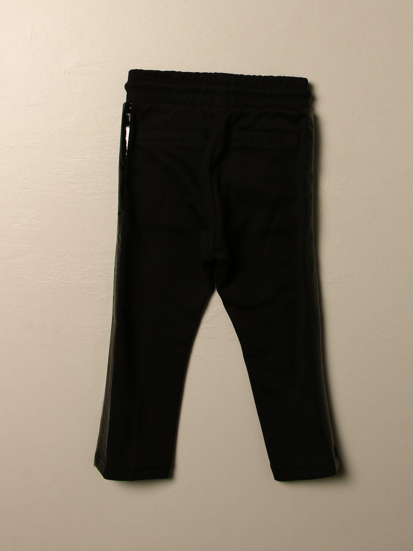 Pantalone Diesel: Pantalone jogging Diesel in cotone con logo nero 2