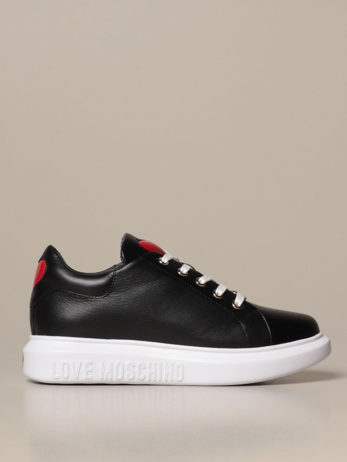 Love Moschino sneakers in leather with