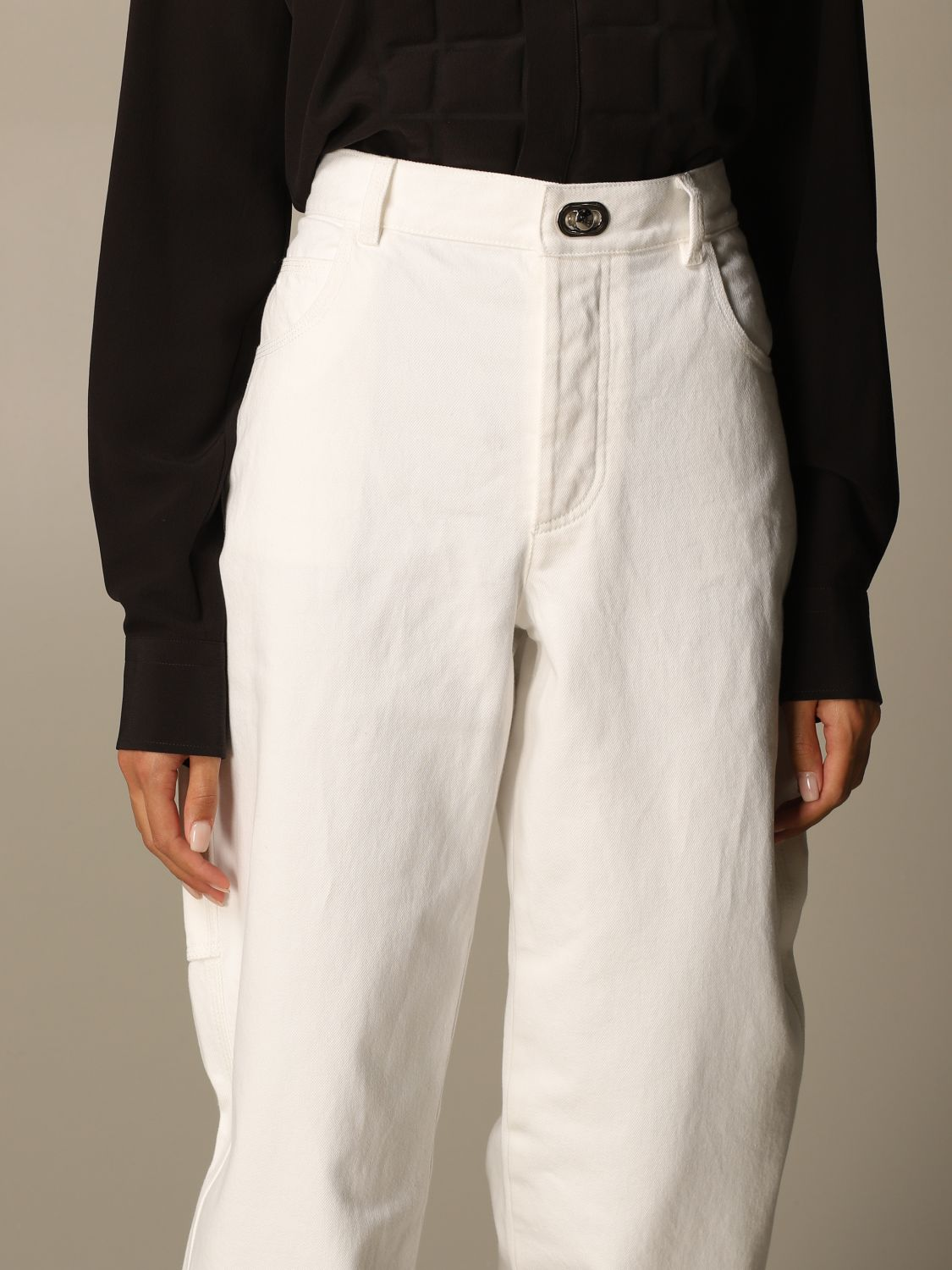 Jeans Bottega Veneta: Short women Bottega Veneta white 5