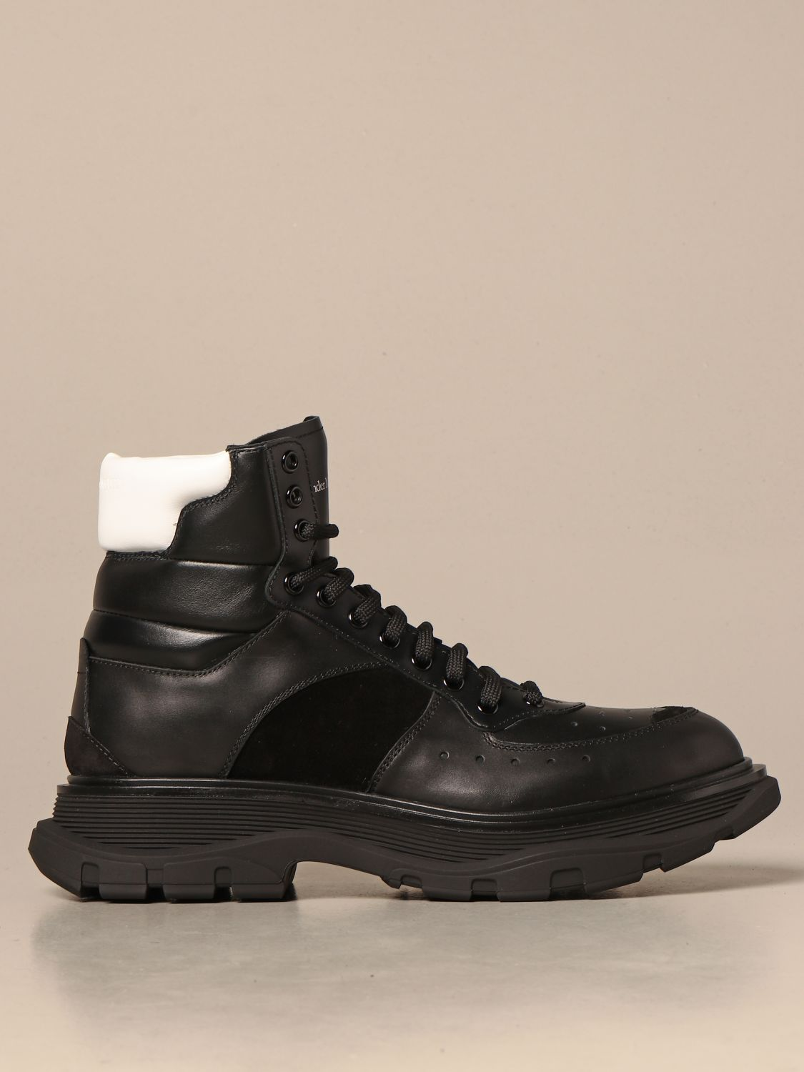 Boots Alexander Mcqueen: Alexander McQueen ankle boots in leather and suede black 1