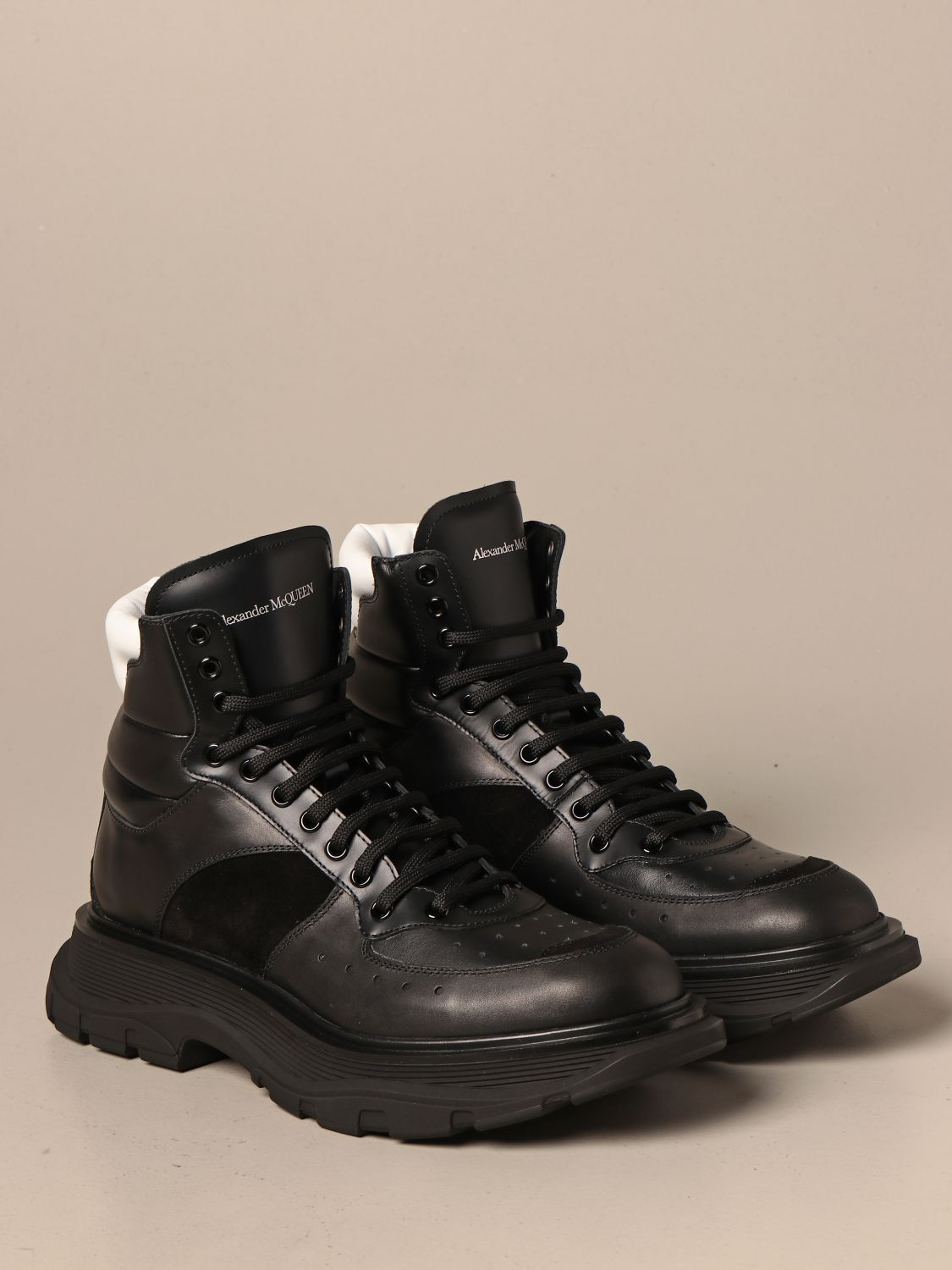 Boots Alexander Mcqueen: Alexander McQueen ankle boots in leather and suede black 2