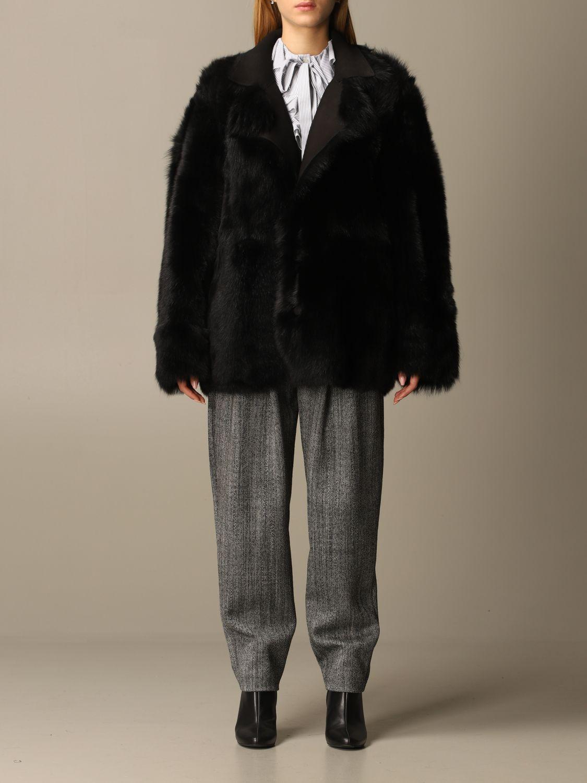 Coat Alberta Ferretti: Coat women Alberta Ferretti black 1