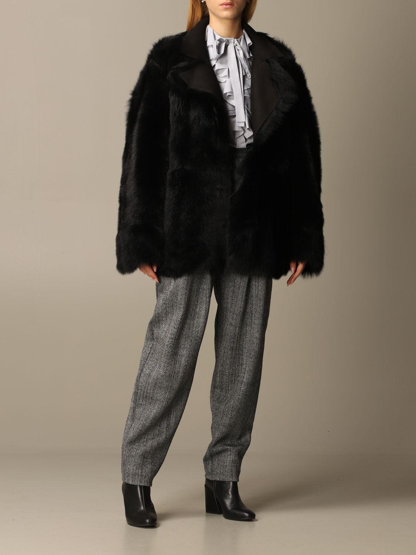 Coat Alberta Ferretti: Coat women Alberta Ferretti black 2