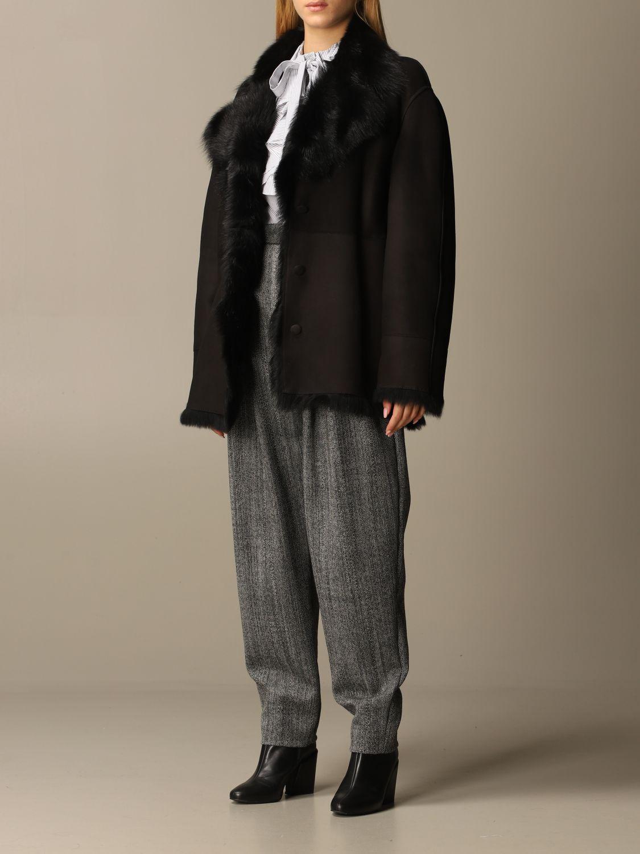 Coat Alberta Ferretti: Coat women Alberta Ferretti black 4