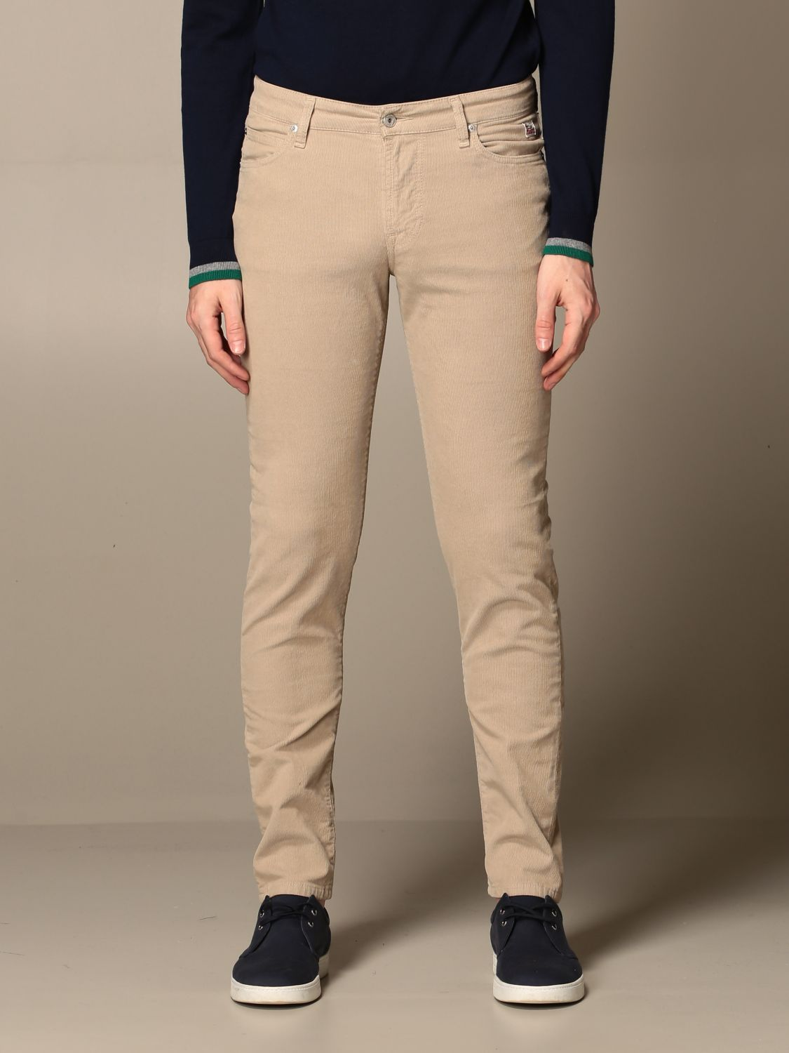 Pants Roy Rogers: Roy Rogers trousers with 5 pockets beige 1