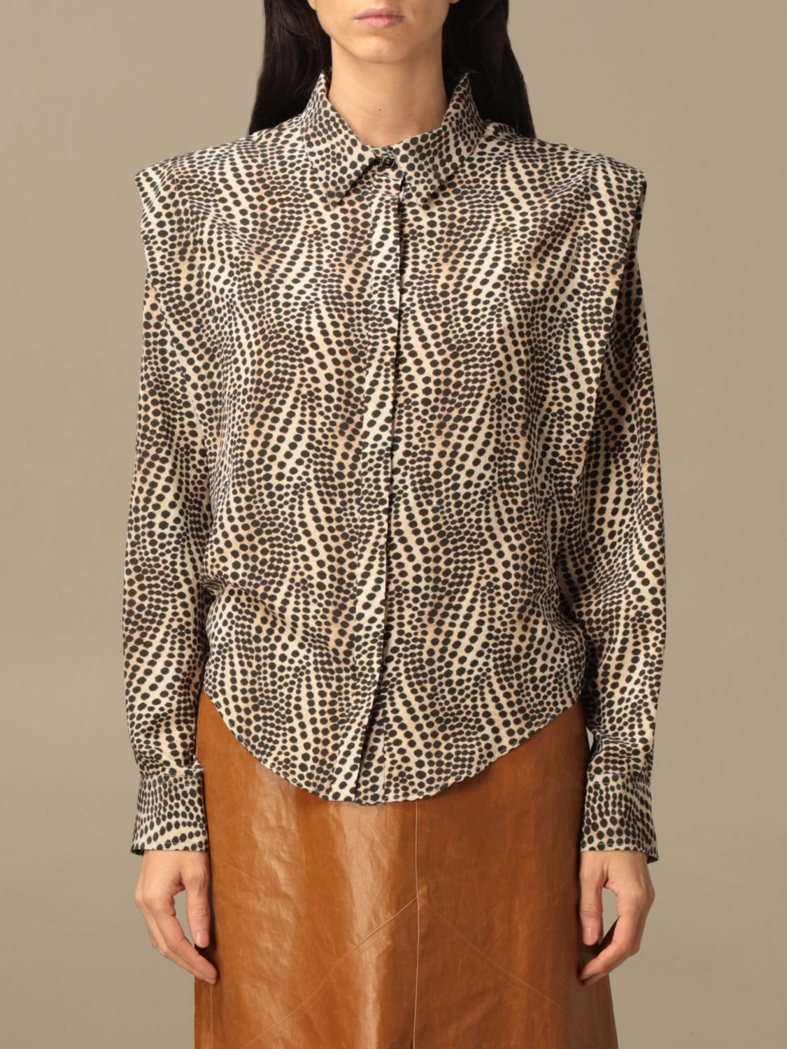 Shirt Isabel Marant: Isabel Marant patterned shirt beige 1