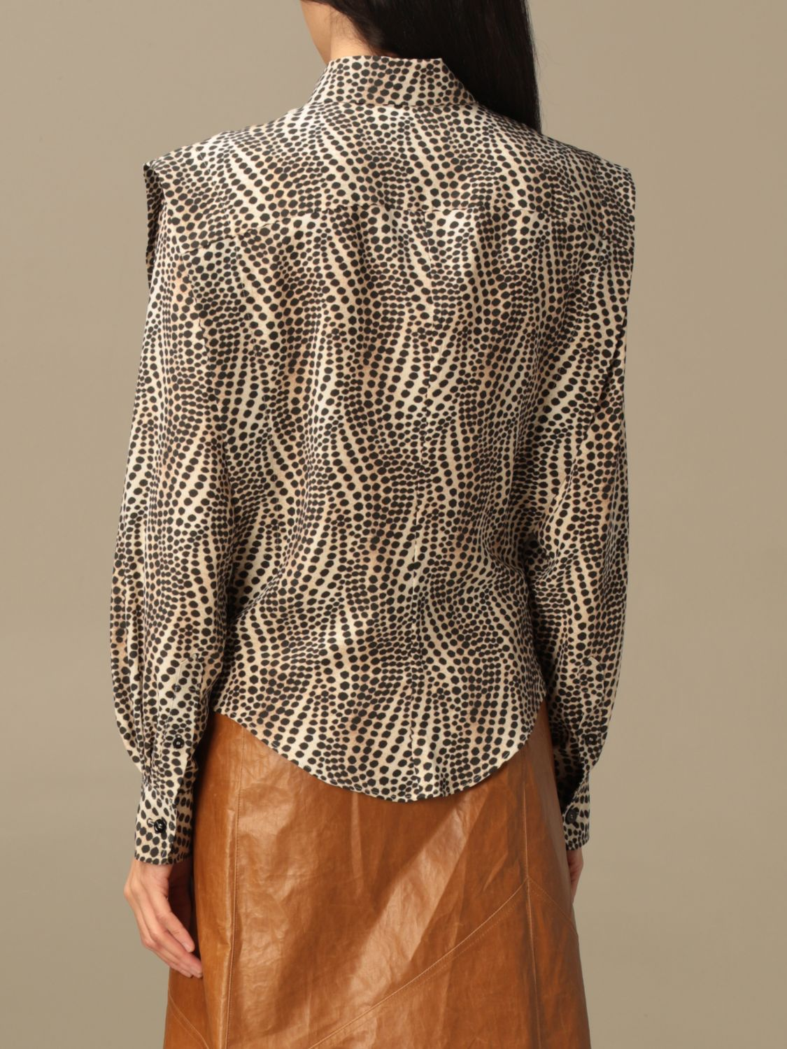 Shirt Isabel Marant: Isabel Marant patterned shirt beige 3