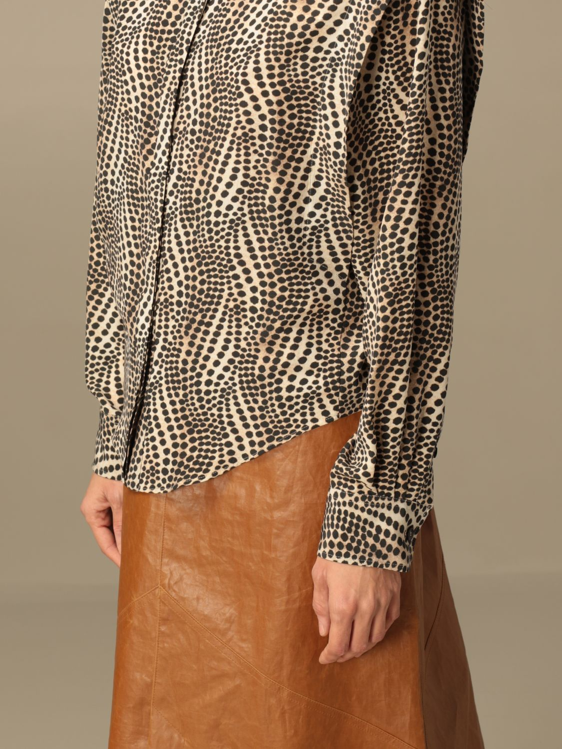 Shirt Isabel Marant: Isabel Marant patterned shirt beige 4