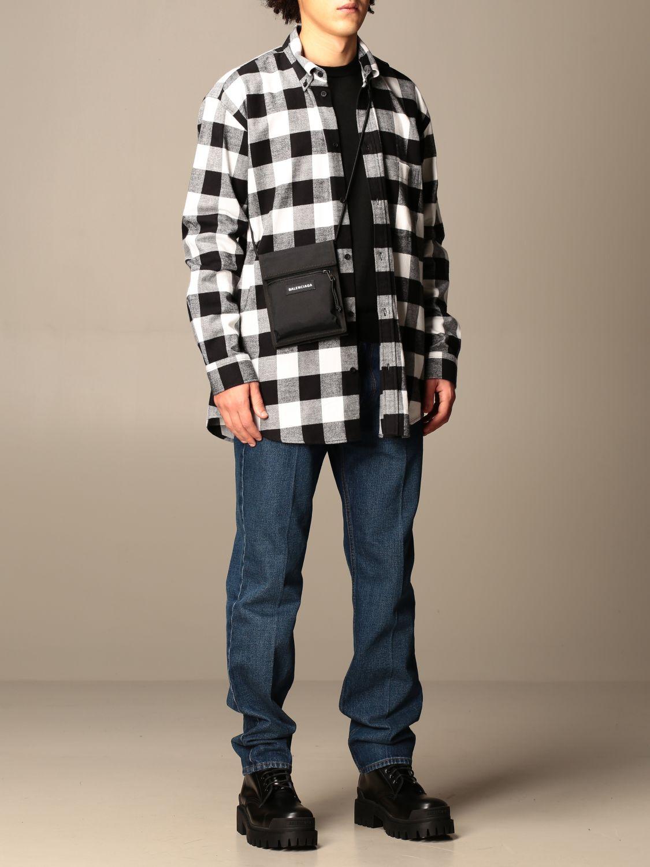 Shirt Balenciaga: Balenciaga checked shirt with logo black 2