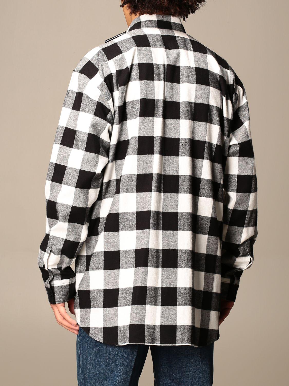 Shirt Balenciaga: Balenciaga checked shirt with logo black 3