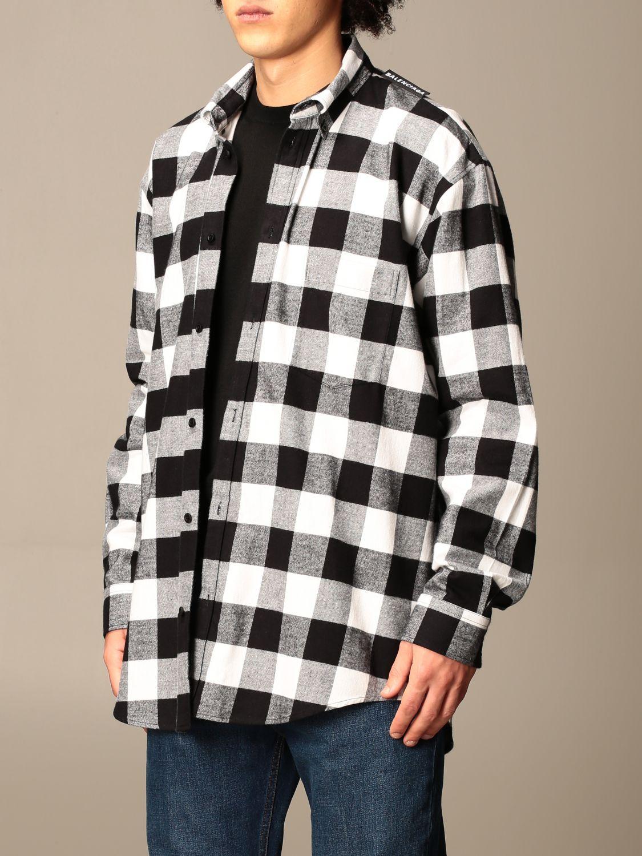 Shirt Balenciaga: Balenciaga checked shirt with logo black 4